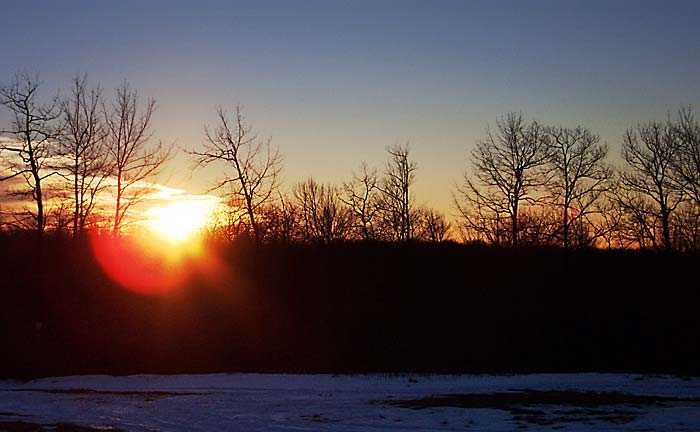 A mid-January sunset on the Allegheny Plateau