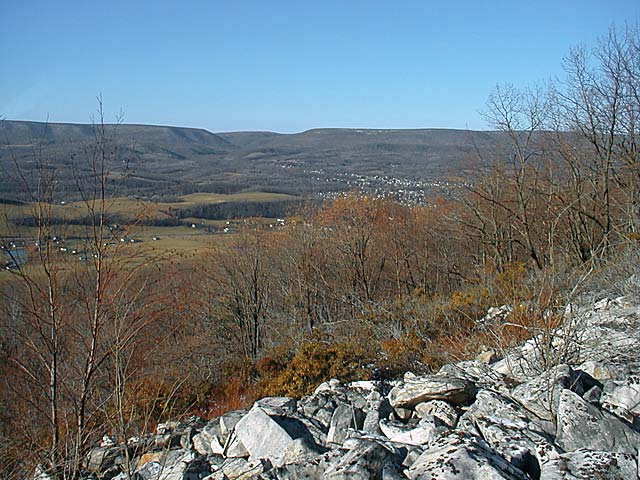View of Logan Valley and Bells Gap from the Brush Mountain powerline
