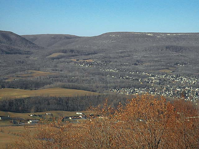 View of Bells Gap from the Brush Mountain powerline